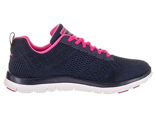 Skechers (SKEES) Flex Appeal - Obvious Choice, baskets sportives femme bleu (NVPK)