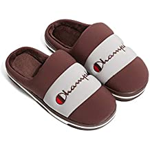 CWXDIAN Zapatillas de algodón Zapatillas Impermeables de Gran tamaño para el hogar, marrón, adecuadas