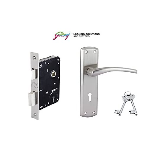 Godrej mortise lock ELC 01 6-Lever Zinc Alloy Door Handle with Lock Body