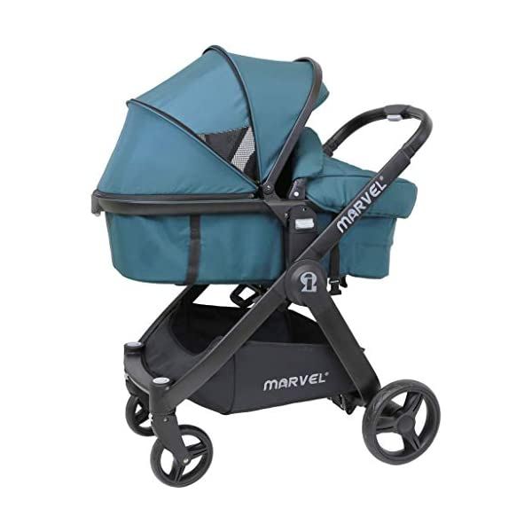 iSafe Marvel 2in1 Complete Pram System Pushchair and Carseat - Teal iSafe  2