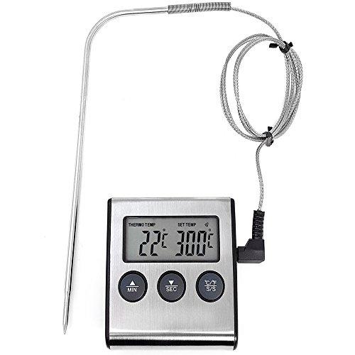 COM-FOUR® Termómetro tostado digital hasta 250 °
