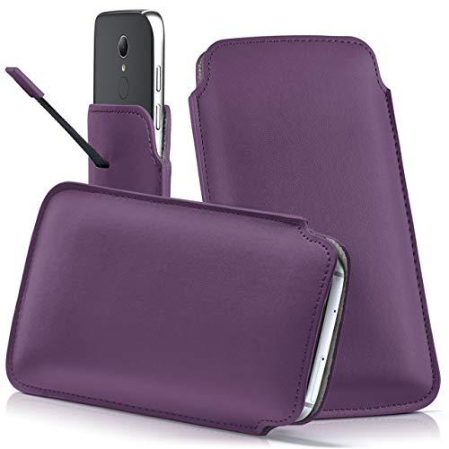 moex HP Elite x3 | Hülle Lila Sleeve Slide Cover Ultra-Slim Schutzhülle Dünn Handyhülle für HP Elite x3 Case Full Body Handytasche Kunst-Leder Tasche