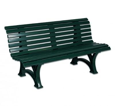 Bank, Gartenbank, 3-Sitzer, Kunststoff, Terrassenbank 150 cm grün