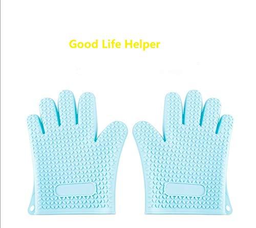 Guantes de horno de Elegant Life, resistentes al calor, guantes de silicona para parrilla, guantes largos...