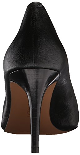 Nove in pelle occidentale Charly pompa Dress Black Leather