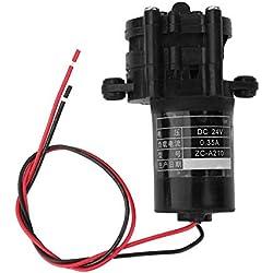 12 / 24v CC mini pompe à eau, anticorrosion à haute température solaire de pompe à eau solaire résistante dans la pompe de climatisation, matériel médical(24V)