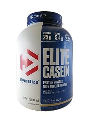 Dymatize Elite Casein Protein Powder Smooth Vanilla Flavour 1.8 kg from Dymatize Nutrition