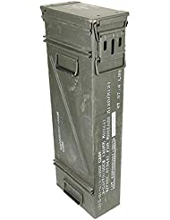Tamaño & Estrecho texto original en la caja de municiones usadas Ejército de los E.E.U.U. Caja de metal Caja Mun Contenedor Metallbox