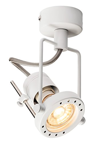 Licht Stahl Decke Spot-licht (SLV Wandleuchte Deckenleuchte, Stahl, GU10, 50 W, Weiß, 8 x 9.5 x 15 cm)