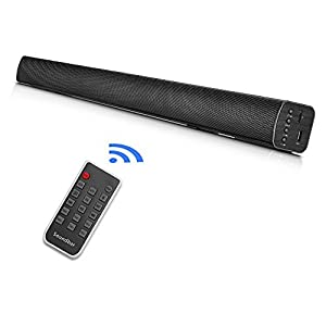 TV Sound Bar with Built-In Subwoofer Surround Sound,Seenda 39 Inch Bluetooth Home Theater Speakers for TV(Remote Control,Wall Mountable