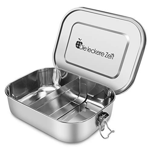 Bess Auslaufsicher Edelstahl Brotdose   Umweltfreundliche Brotdose ohne Plastik&BPA   Die hochwertige Lunchbox für Kinder und Erwachsene   1400ml Fassungsvermögen Mit Abnehmbarer Trennsteg