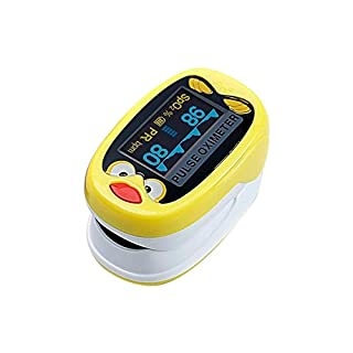 Awtang Pulse Oximeter Children's Special Finger Clip Type Pulse Rate Detection Built-in Lithium Battery Rechargeable Pediatric SpO2 Blood Oxygen Saturation Meter