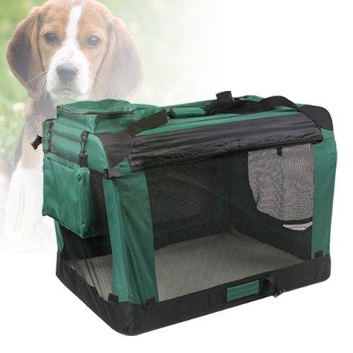 hundeinfo24.de [mia.home®]Faltbare Transportbox Hundebox Hundetransportbox Box Grün 3 Größe (XL-120039)
