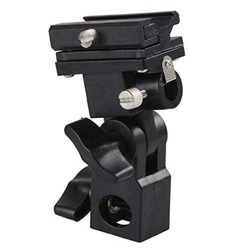 Swivel Flash Hot Shoe Umbrella Holder Light Bracket Stand Mount Adapter for Studio Light Type B Swivel Flash Bracket