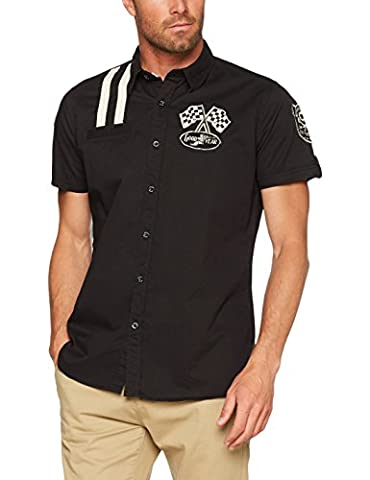 Goodyear Fashion Herren Shinrock Hemd, Black, XL (Ohio Vintage-note)