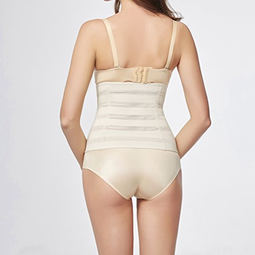 Zhhlaixing Four Seasons Bella forma del corpo per le donne Hollow Belly Belt Breathable Waistband Elastic Stretch Beam Waist Trainer Shaper for Women Beige
