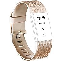 Fitbit Charge 2 Armband, Vancle Weiches Verstellbare Silikon Sports Ersetzerband Fitness Verstellbares Uhrenarmband für Fitbit Charge 2(Kein Tracker)