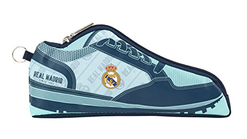 Real Madrid- Portatodo, Color Gris y Azul Marino, 24 cm (811824584)