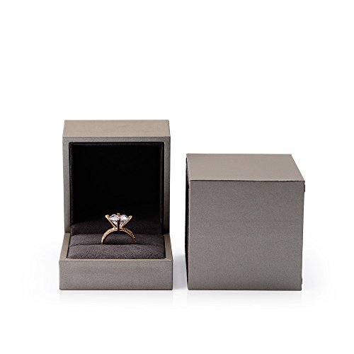 Oirlv Schmuck Verpackung Boxen für Ring Halskette Ausstellung Armreif Halter mit Kunstleder Papier (ring box) (Schmuck Halter Mit Box Halskette)