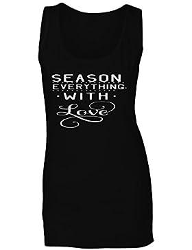 Sazona Todo Con Amor camiseta sin mangas mujer n829ft
