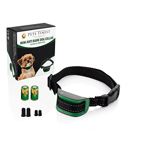 Anti-Bark-Dog-Collar-by-Pets-Finest-Sound-Vibration-Anti-Bark-Dog-Collar--Small