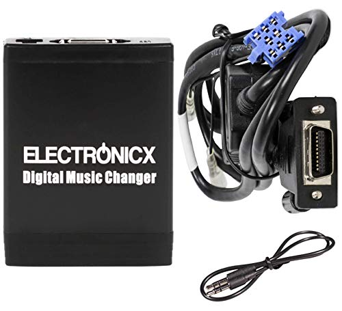 Electronicx Elec-M06-REN8 Adaptateur Interface autoradio MP3, USB, SD, AUX, pour Renault 8 Pin Avantime, Espace Kangoo,
