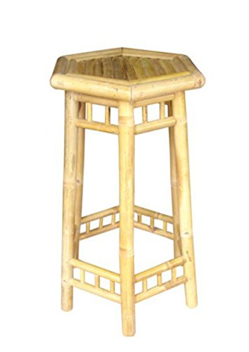 Bambushocker Barhocker Thekenhocker Hocker Stuhl Bambus Bambusmöbel (Hocker-bar Bambus Natur)