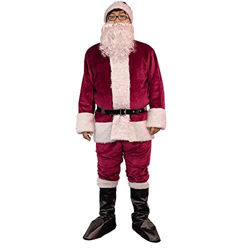 Luxanna Herren Deluxe Sankt-Klage, Profi-weihnachtsweihnachtsmann, Outfit Weihnachts Cosplay Large - Crimson Kinder Kostüm