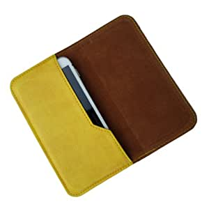 i-KitPit : PU Leather Flip Pouch Case Cover For Panasonic T21 (YELLOW)