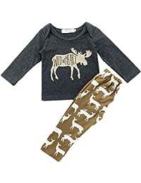 Baby Boy Clothing Set Animal impreso camisa de manga larga Top y pantalón 2 piezas Homewear