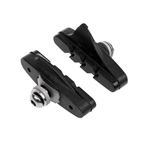 ELECTROPRIME 2 Pair Mountain Bike V Brake Blocks Black Bicycle BMX Break Shoes Pads 52mm