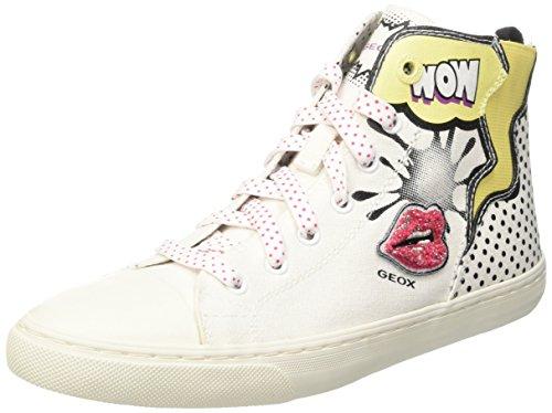Geox - D6258B000AWC1000 - Chaussures À Col Roulé, Femme Blanc