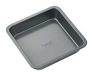 """Prestige Steel Square Cake Pan, Silver - 8"""""""