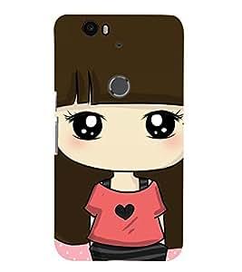 TOUCHNER (TN) Shy Girl 2 Back Case Cover for Huawei Google Nexus 6P