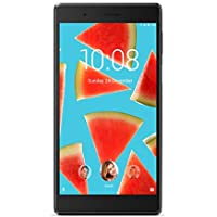 "Lenovo Tablet TB - 7304 X con Display da 7"" HD IPS Touch, Memoria 2 GB, Storage 16 GB eMCP, Card Reader micro SD, Wi-fi B/G/N, BT 4.1, Camera Frontale 2MP Posteriore 2MP, LTE, GPS, Android 7.0, Nero"