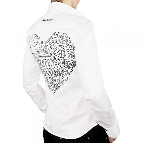 chemise bordee love blanc Blanc