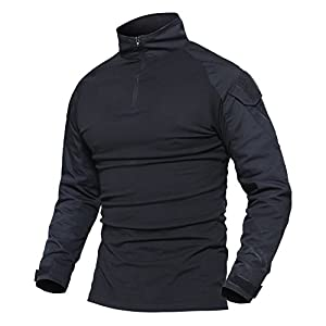 41o3lxflRJL. SS300  - MAGCOMSEN Outdoor Tactical Military Slim Fit T Shirt Long Sleeve with Zipper