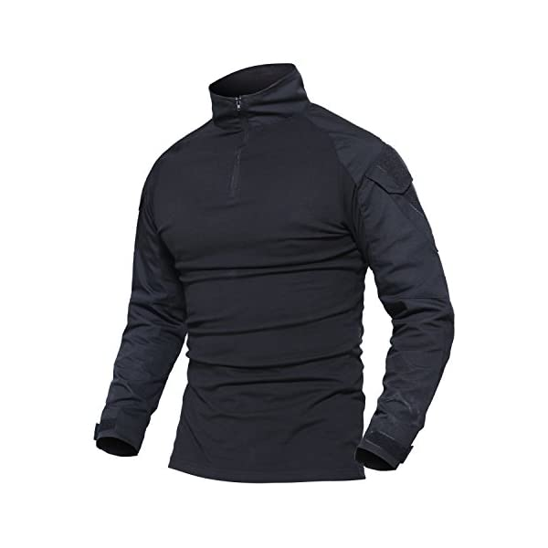 MAGCOMSEN Outdoor Tactical Military Slim Fit T Shirt Long Sleeve with Zipper 1