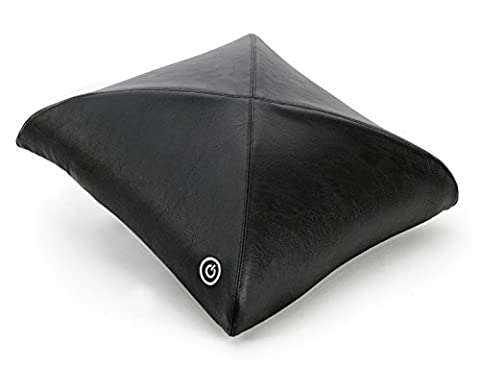 Zyllion ZMA-20 Luxury Shiatsu V-Spring Massager Pillow with Heat (Black)- One Year Warranty