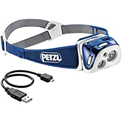 PETZL Reactik Lampe Frontale Mixte Adulte, Bleu, Taille Unique