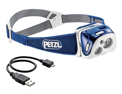Petzl REACTIK - Linterna (Linterna con Cinta para Cabeza, Azul, IPX4, CE, 1 lámpara(s), LED)
