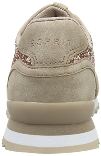 Esprit Astro Glitt Lu, Baskets Basses Femme Beige (675 dark old Pink)