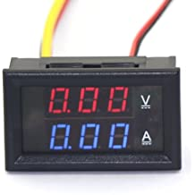 "DROK® Mini 0.28"" Voltmetro-amperometro 0-100V/5A Elettronico Amp Volt Pannello Testing Meter Amperage Current Tensione Corrente Panel Monte Digital LED Display for Motor Auto Car Motorcycle Vehicle"