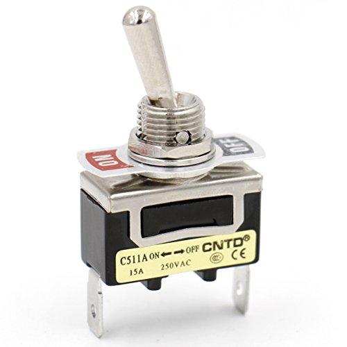 Heschen en m/étal Interrupteur /à bascule Spst Maintenue on//off 2/position 15/A 250/VAC avec capuchon /étanche CE