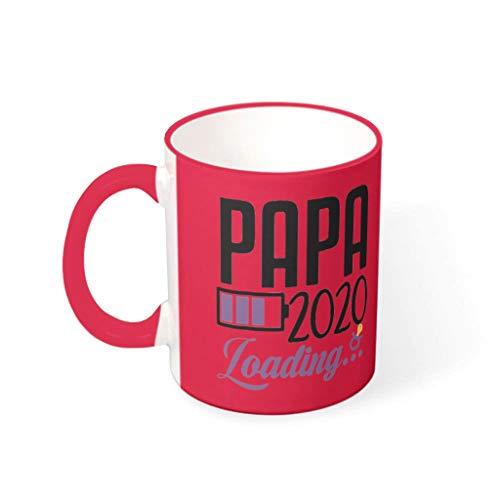 O4EC2-8 11 Unze Papa Laden 2020 Kaffeetasse Porzellan Personalized Becher Tasse - Lustige Geschenke für Papa Mädchen (Beidseitig Bedrucken) mred 330ml