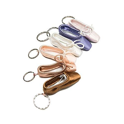 Farbe Schlüsselanhänger Schlüsselanhänger, Ballett Foottip Pointe Schuhe Schlüsselanhänger Halter Charme Für Autoschlüssel ()