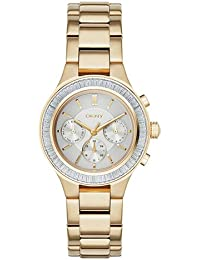 DKNY Damen-Armbanduhr Analog Quarz Edelstahl NY2395