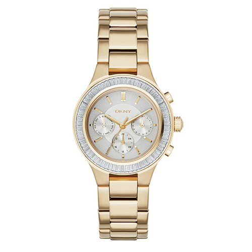 DKNY (DNKY5) Women's Quartz Watch with Gold Dial Analogue Display and Gold Stainless Steel Bracelet NY2395