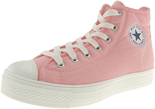 Maxstar  C1-7H, Chaussons montants femme Rose - C1-1-Pink