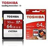 Toshiba Exceria 64GB 90MB/s SDXC UHS-1 Class 3 Memory Card